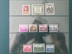 Belgium 1930/1935 - Selection of 4 emissions including castles and francois de tassis OPB 301/410