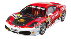 Hot Wheels Elite - Scale 1/18 - Ferrari F430 Modena Cars Racing #102 European Champion 2006