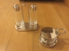 Ettore Sottsass for Alessi - Cruet set and Formaggiera