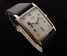 Arsa ArtDeco Silver Case - Men's WristWatch - 1940's