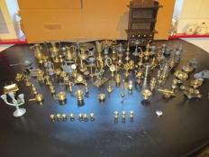 Collection brass typecase figures