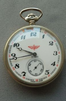 Molnija – railroad watch – USSR, Russian pocket watch – 1960s