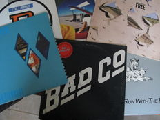 Nice Lot with 7 albums of Free and Bad Company