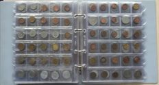 Europe - batch of various coins (+ 400 different ones) in album with 15 sheets (Belgium, Germany, France, Italy).