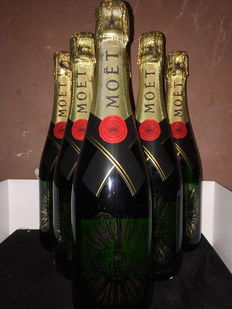 Collector's Moët & Chandon Imperial Brut, limited edition – 6 bottles (75cl)