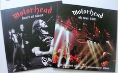 Lot of 2 live albums of Motörhead - 1 LP The Alternate No sleep 'til Hammersmith /  1 LP Heart of Stone Live Vienna 1982 red vinyl
