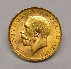 South Africa - Sovereign 1927SA George V - gold