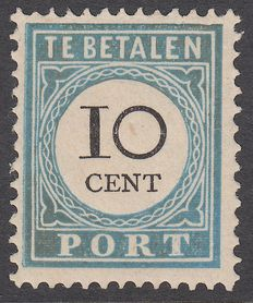 The Netherlands 1887 – Postage Paid Number and value black – NVPH P7B type I