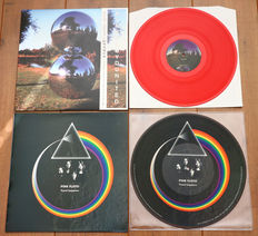 Pink Floyd- lot of 2 limited edition lp's: U·n·i·t·e·d (300 copies only, red wax) & Travel Sequence picture disc lp (500 copies only, Live at The Rainbow Theatre, London, 1972)