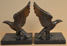 Pair of bookends with Eagles - France - 1930/40