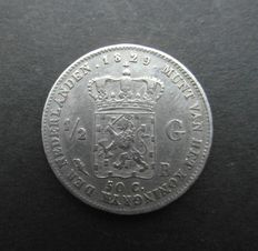 The Netherlands - ½ guilder coin 1829/23B Willem I - silver.