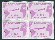 Republic of Italy – 1961 – Visit of President Gronchi to South America – Sassone 2017 no. 921