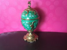 Fabergé porcelain egg with music box