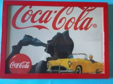 Coca Cola advertising sign - beautiful image of the 70s