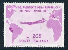 Republic of Italy – 1961 – Visit of President Gronchi to South America – Sassone 2017 – No. 921