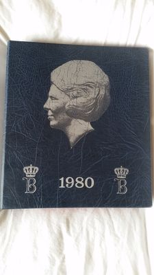 The Netherlands – 5 cent up to and including 50 guilder coins  1982/2001, Beatrix, complete in preprint album.