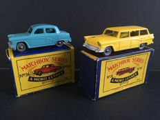 Moko Lesney Matchbox - Misc. scales - Ford Station Wagon No.31 and Austin A50 Cambridge No.36