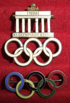 Germany Lot with two badges of the Third Reich. Olympic Games 1936. Berlin
