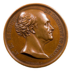 France – 1824 Coin 'Abraham Bréguet de l'Institut de France' by Peuvrier – Copper.
