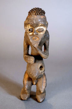 Nice African Tribal Taped MAMBILA figure from the Suaga Association. Cameroun.