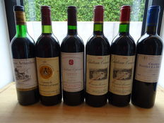 Lot of 6 bottles of Graves & Fronsac wines