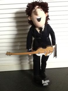 Vintage Beatle Forever Dolls with stands,tags and instruments by Applause