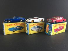 Lesney Matchbox - Misc. scales - ISO Grifo No.14, Rolls-Royce No.24 and Ford GT Racer No.41