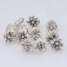 12 Round Brilliant Mix Color Diamonds – 0.30 ct. - *** NO RESERVE ***