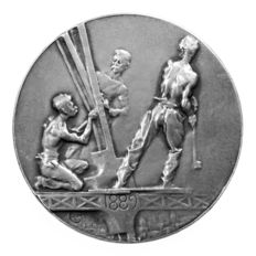 "France - Medal ""Souvenir of the Ascension of the Eiffel Tower"" 1889 - silver"