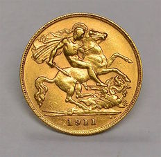 United Kingdom - ½ Sovereign 1911 George V - gold