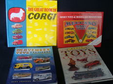 4 reference works: Dinky Toys & Modelled Miniatures, Great Book of Corgi Toys, Matchbox en Metal Toys