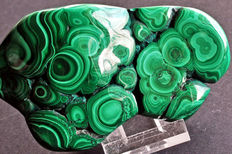 Polished Malachite freeform - 12,1 x 7,2 x 5,7cm - 475gm