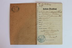 Rare German Officer's Military service booklet (Dienstbuch) - 1880