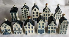 11 KLM Delft blue houses, by the Royal Goedenwaagen. ( Henkes ! )
