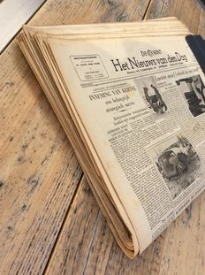 War newspapers; De Courant. Het Nieuws van den Dag - 30 issues - 1941