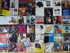"Lot of 50 7"" singles from the 60's, 70's and 80's in VG+/EX condition"