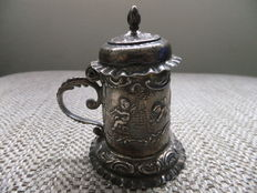 Silver tankard with lid , Germany/England , 1901