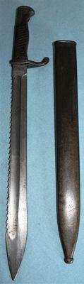 Butcher bayonet - Seitengewehr M98/05, WITH SERRATED EDGE Germany, in good condition, original W.K.C, with sheath