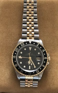 Rolex Automatic- yellow gold,  18 kt gold with steel, with certificate in green Rolex box, comes with certificate from 1996