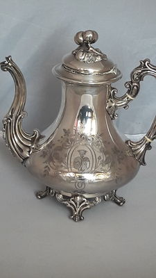Silver tea pot, period Napoleon III, France, 2nd half 19th century