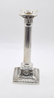 Designer sterling silver candlestick, international hallmarked 925