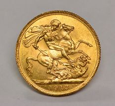 United Kingdom - Sovereign 1913 George V - gold