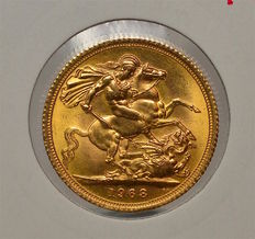 United Kingdom - Sovereign 1968 Elizabeth II - gold