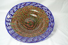 Imperio Rossi - artistic plate with murrine (unique piece 1/1)