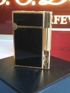 S.T DUPONT lighter line 2 GATSBY Chinese lacquer and gold plated