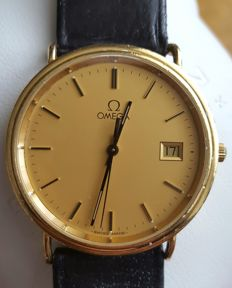 Omega Quartz Classic 18K Gold- Mens Watch