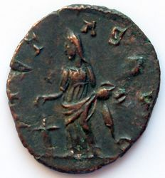 Roman Empire and the Gauls - Military anarchy. Antoninian of Victorinus, 269 AD. Pietas Avg