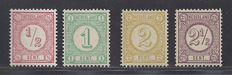 The Netherlands 1894 – Printing stamps – NVPH 30b/33a