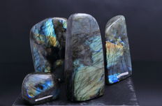 Fine polished Labradorite - 7.8 to 17.2cm - 4405gm  (4)