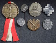 Germany Lot with 7 badges 'Gymnastics Festival' 1913-1935.